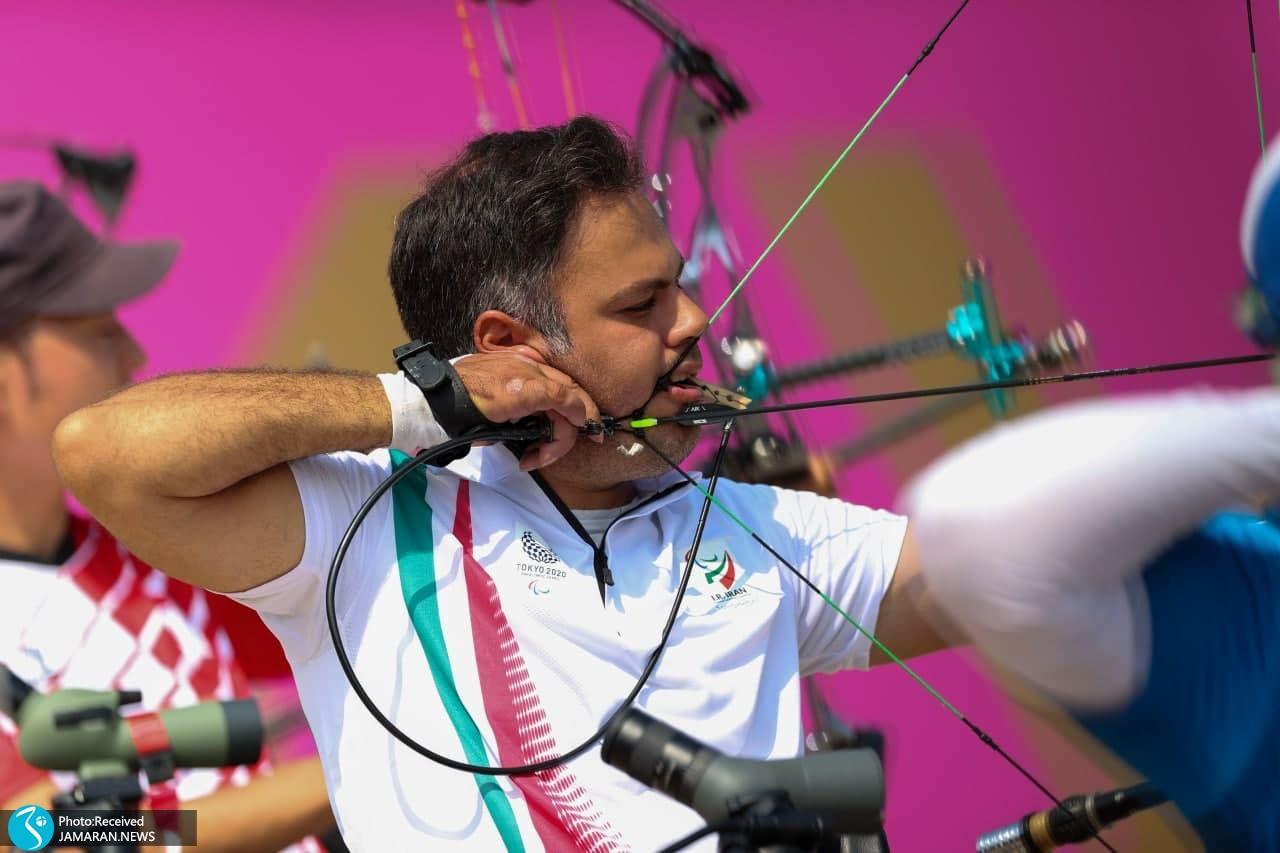 پاراتیروکمان ایران در پارالمپیک توکیو محمدرضا زندی