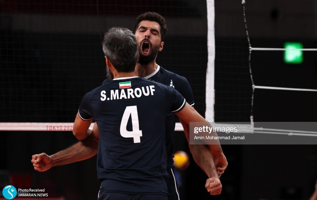 والیبال ایران و لهستان در المپیک سعید معروف محمد موسوی