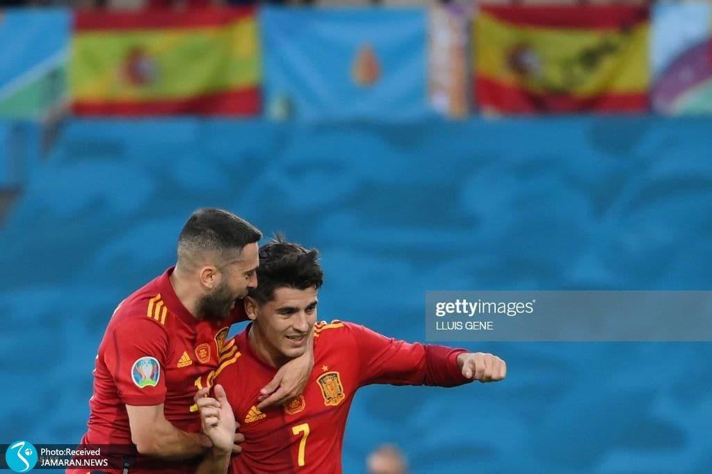 آلوارو موراتا یورو 2020 - تیم فوتبال اسپانیا تیم فوتبال لهستان