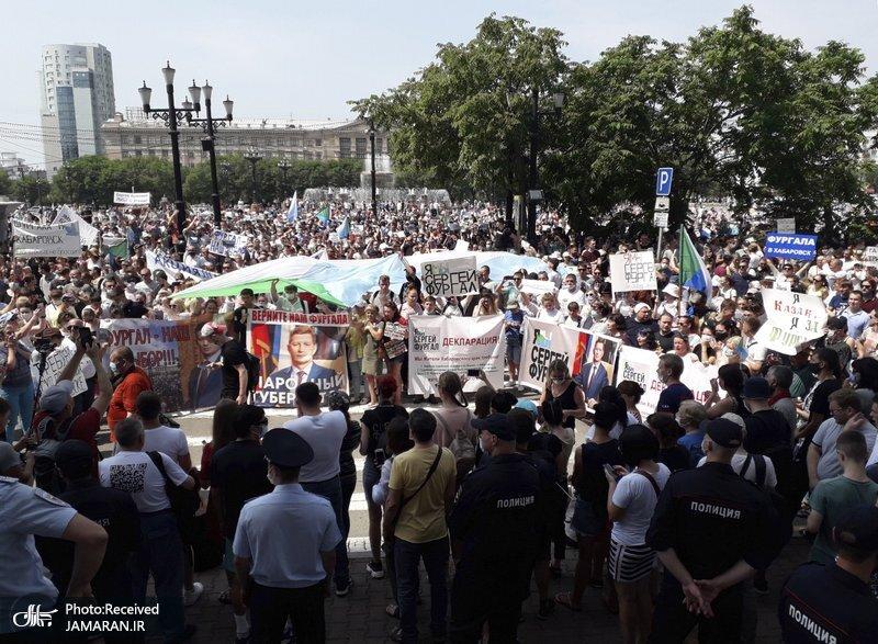 اعتراض_ها+به+بازداشت+فرماندار+خاباروفسک+به+خیابان_های+مسکو+سرایت+کرد