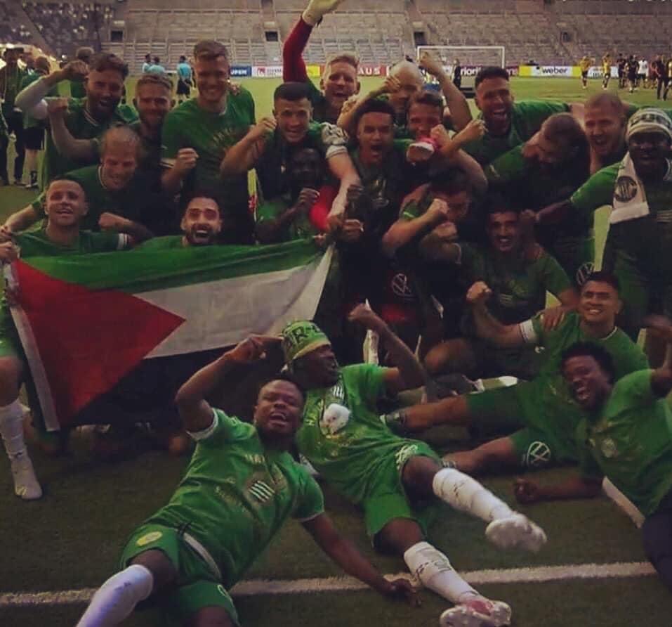 حمایت از مردم فلسطین در فینال جام حذفی سوئد