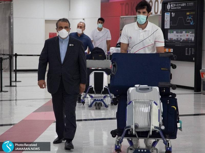 ورود کاروان بسکتبال به توکیو