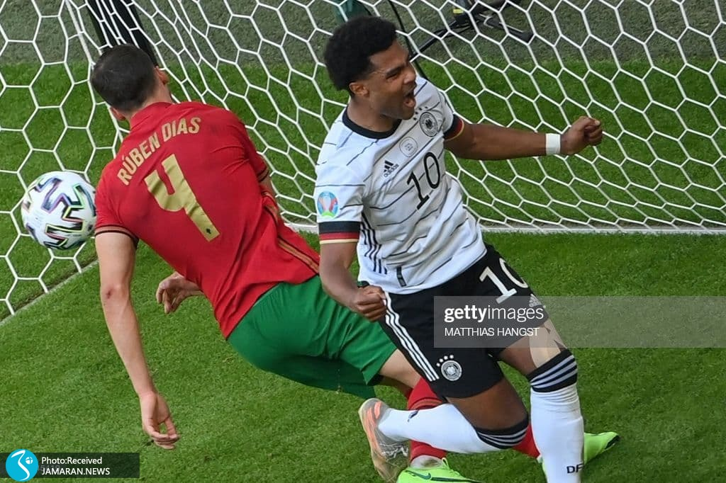 یورو 2020 - تیم فوتبال آلمان و پرتغال سرژ گنابری