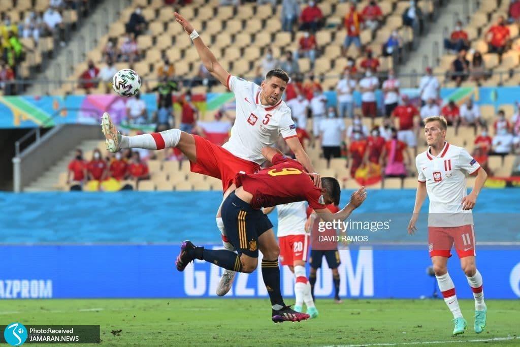 یورو 2020 - تیم فوتبال اسپانیا تیم فوتبال لهستان