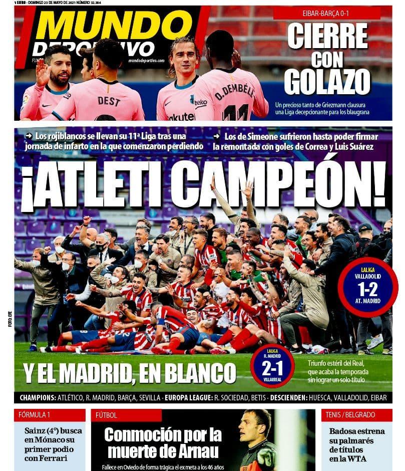 واکنش رسانه های اسپانیا به قهرمانی اتلتیکو