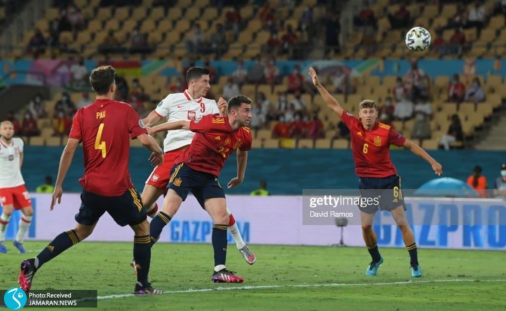 یورو 2020 - تیم فوتبال اسپانیا تیم فوتبال لهستان روبرت لواندوفسکی