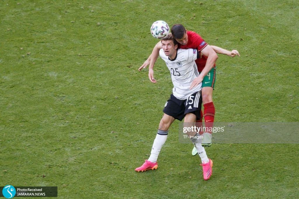 یورو 2020 - تیم فوتبال آلمان و پرتغال توماس مولر