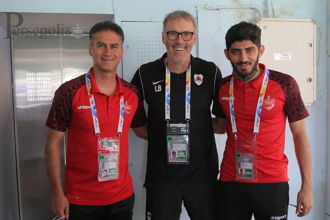 دیدار دو پرسپولیسی با اسطوره فوتبال فرانسه