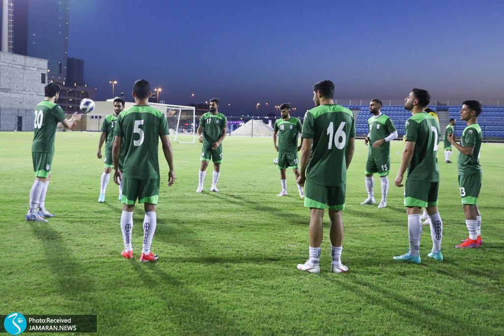 تمرین تیم ملی فوتبال در منامه