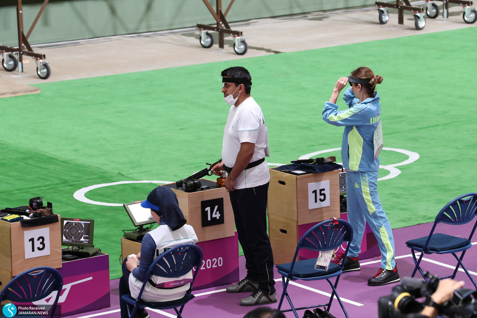 میکس تپانچه ایران در المپیک جواد فروغی
