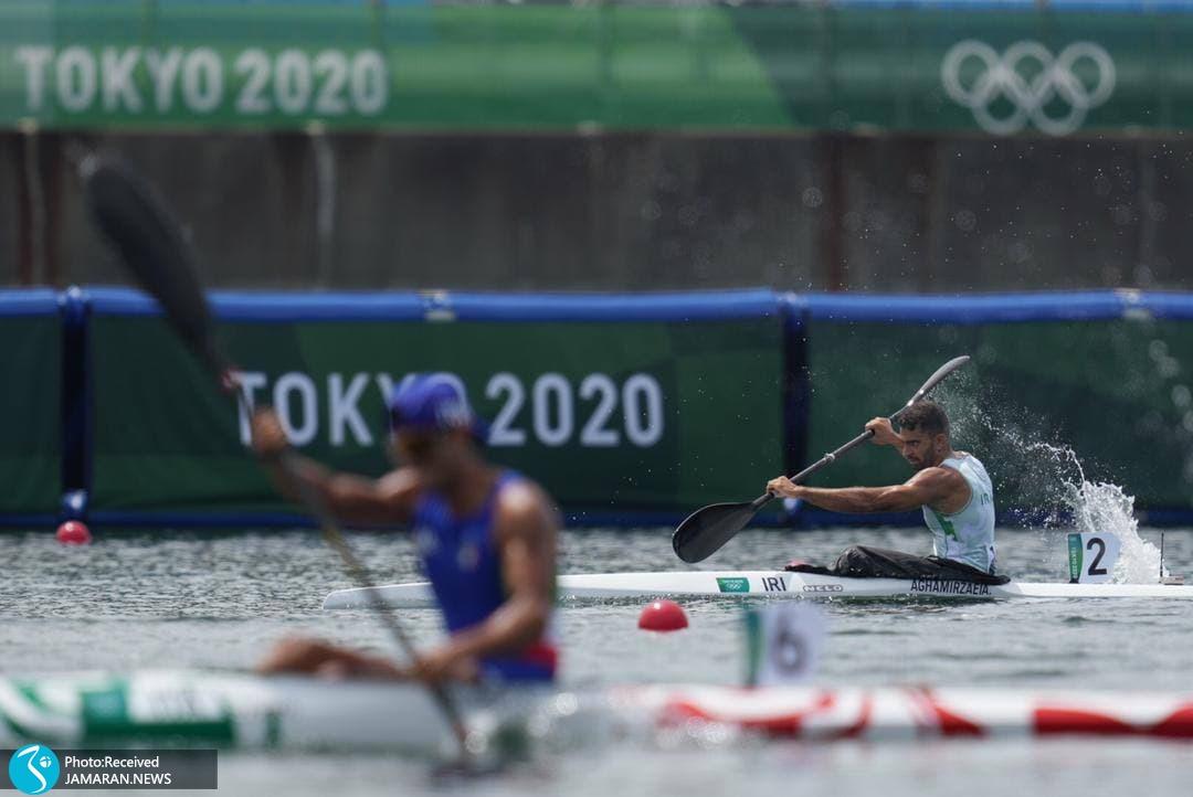 علی آقامیرزایی در قایقرانی المپیک