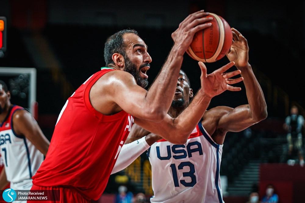بسکتبال ایران و آمریکا در المپیک ۲۰۲۰ توکیو