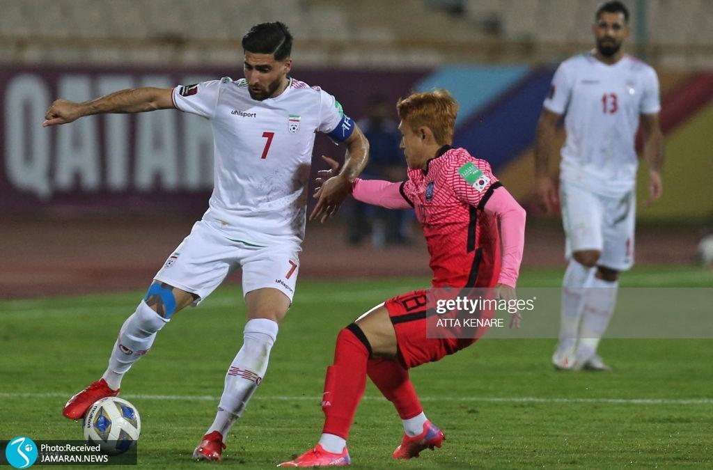 مون سئون مین علیرضا جهانبخش ملی فوتبال ایران کره جنوبی انتخابی جام جهانی