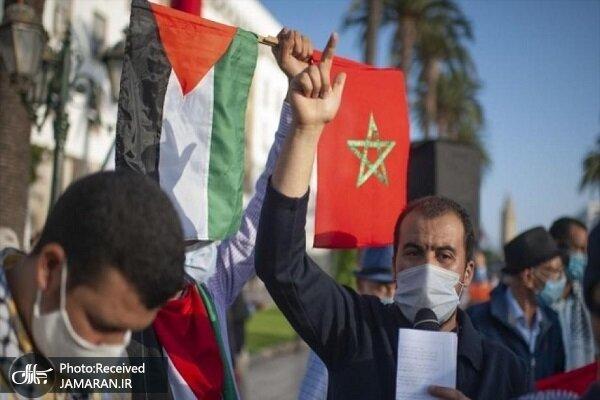 مغربی ها در اعتراض به عادی سازی روابط رباط با رژیم صهیونیستی