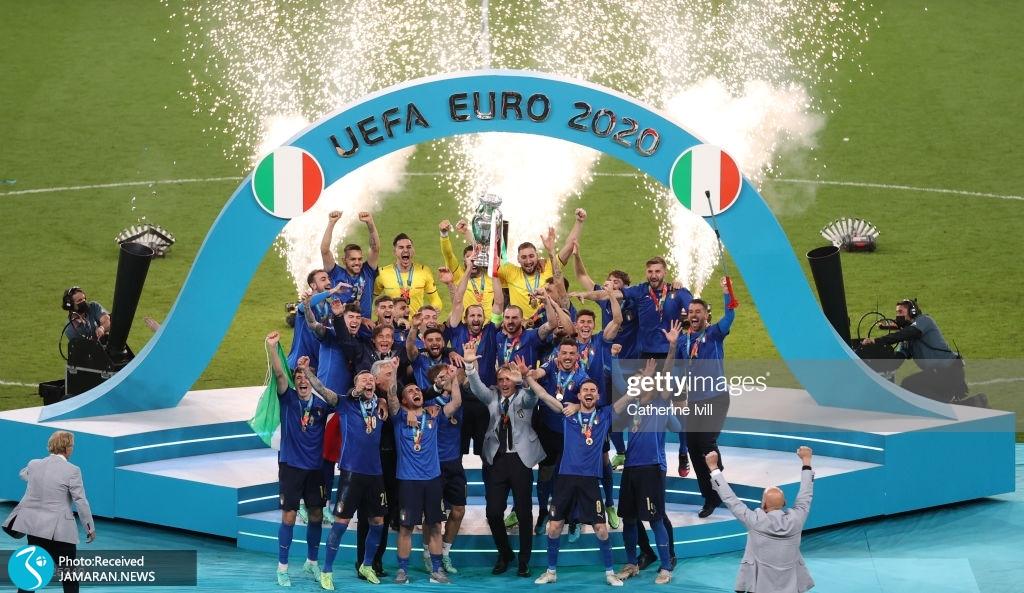 جشن قهرمانی ایتالیا در یورو ۲۰۲۰