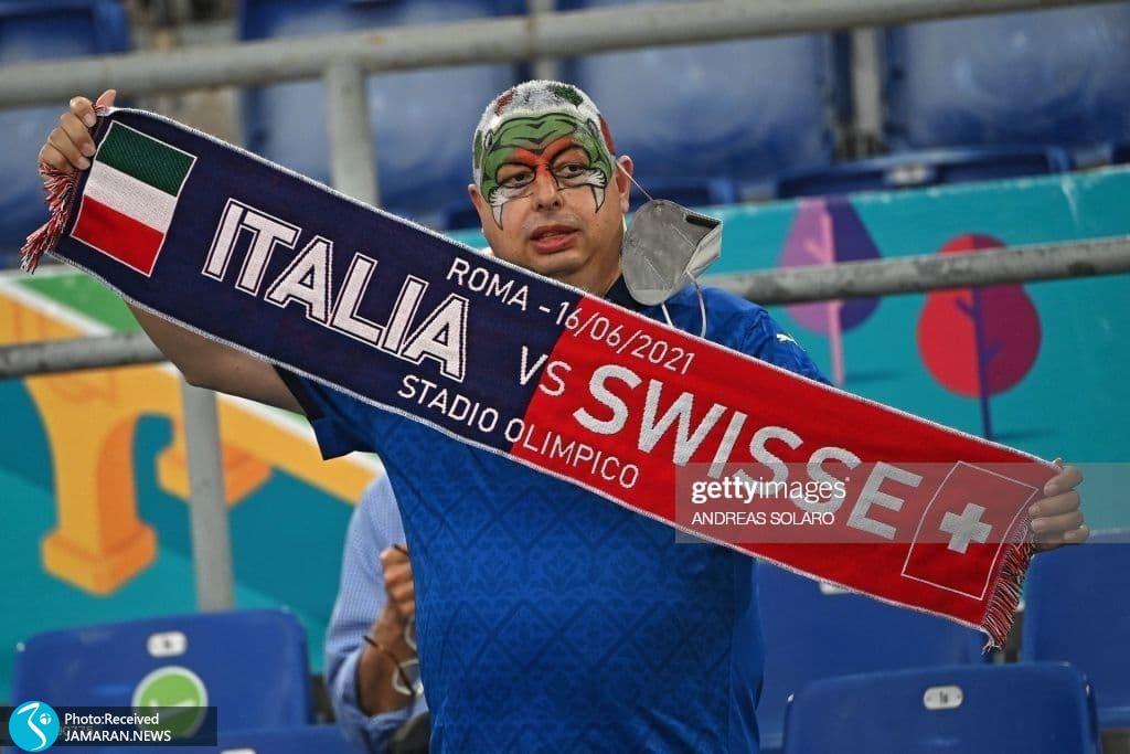 یورو 2020 - تیم فوتبال ایتالیا و سوئیس