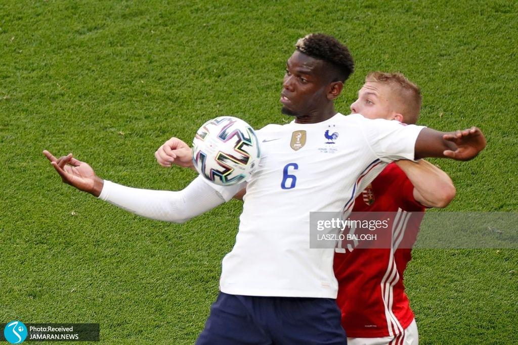 یورو ۲۰۲۰ - تیم فوتبال فرانسه و مجارستان پوگبا