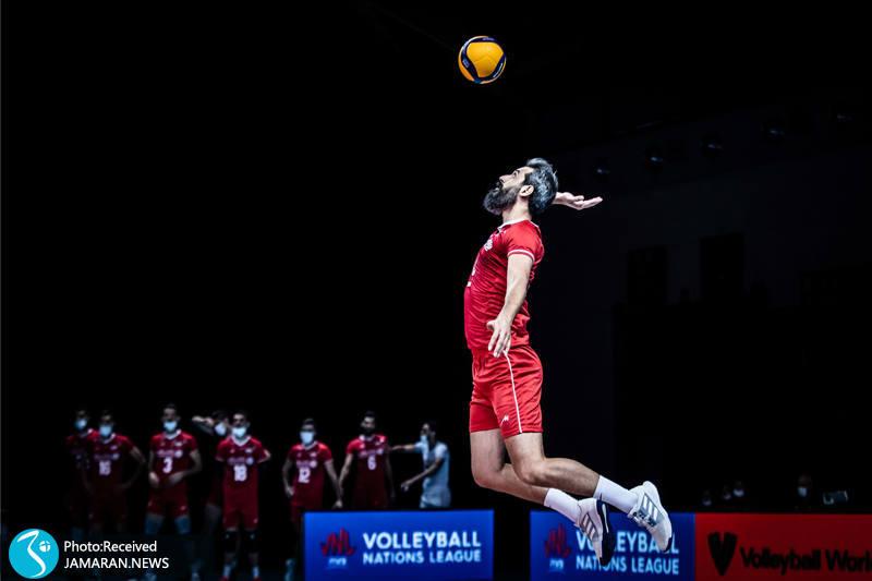 سعید معروف لیگ ملت های والیبال 2021- تیم ملی والیبال ایران - ایران و آمریکا