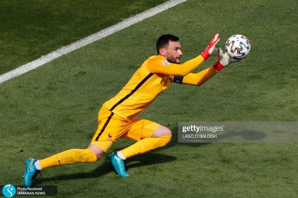 یورو ۲۰۲۰ - تیم فوتبال فرانسه و مجارستان هوگو لوریس
