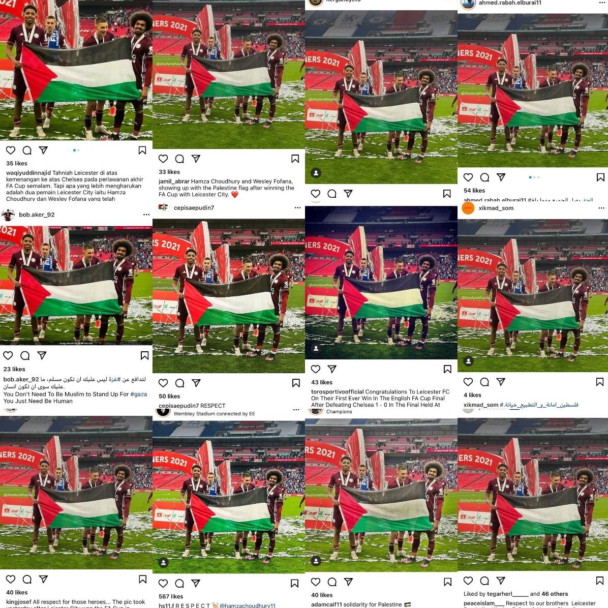 واکنش رسانه ها به حمایت بازیکنان مسلمان از فلسطین در فینال جام حذفی انگلیس