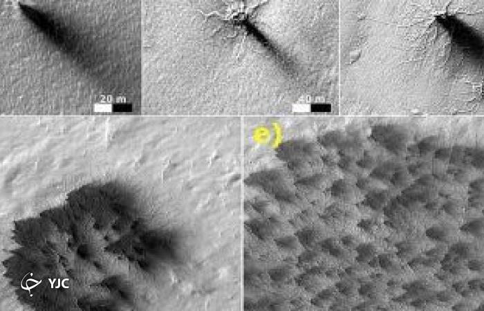 اشکال شبیه به عنکبوت بر روی سطح مریخ