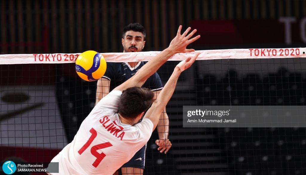 والیبال ایران و لهستان در المپیک میثم صالحی