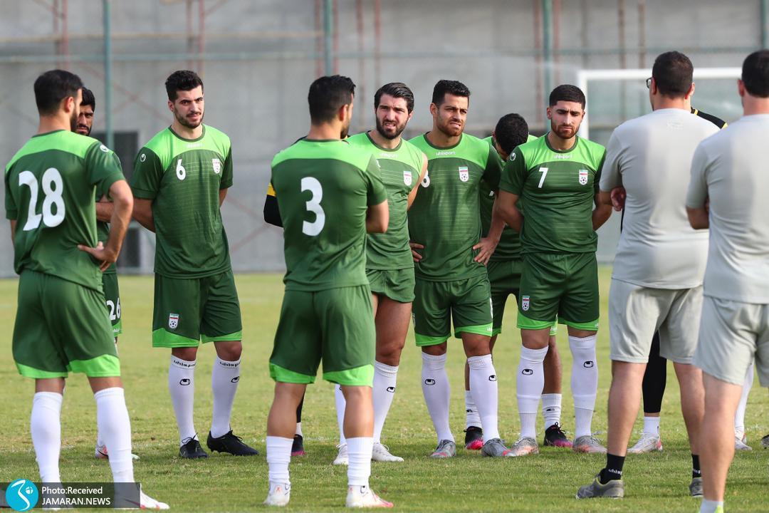 تمرین تیم ملی فوتبال ایران در منامه سعید عزت اللهی کریم انصاری فرد