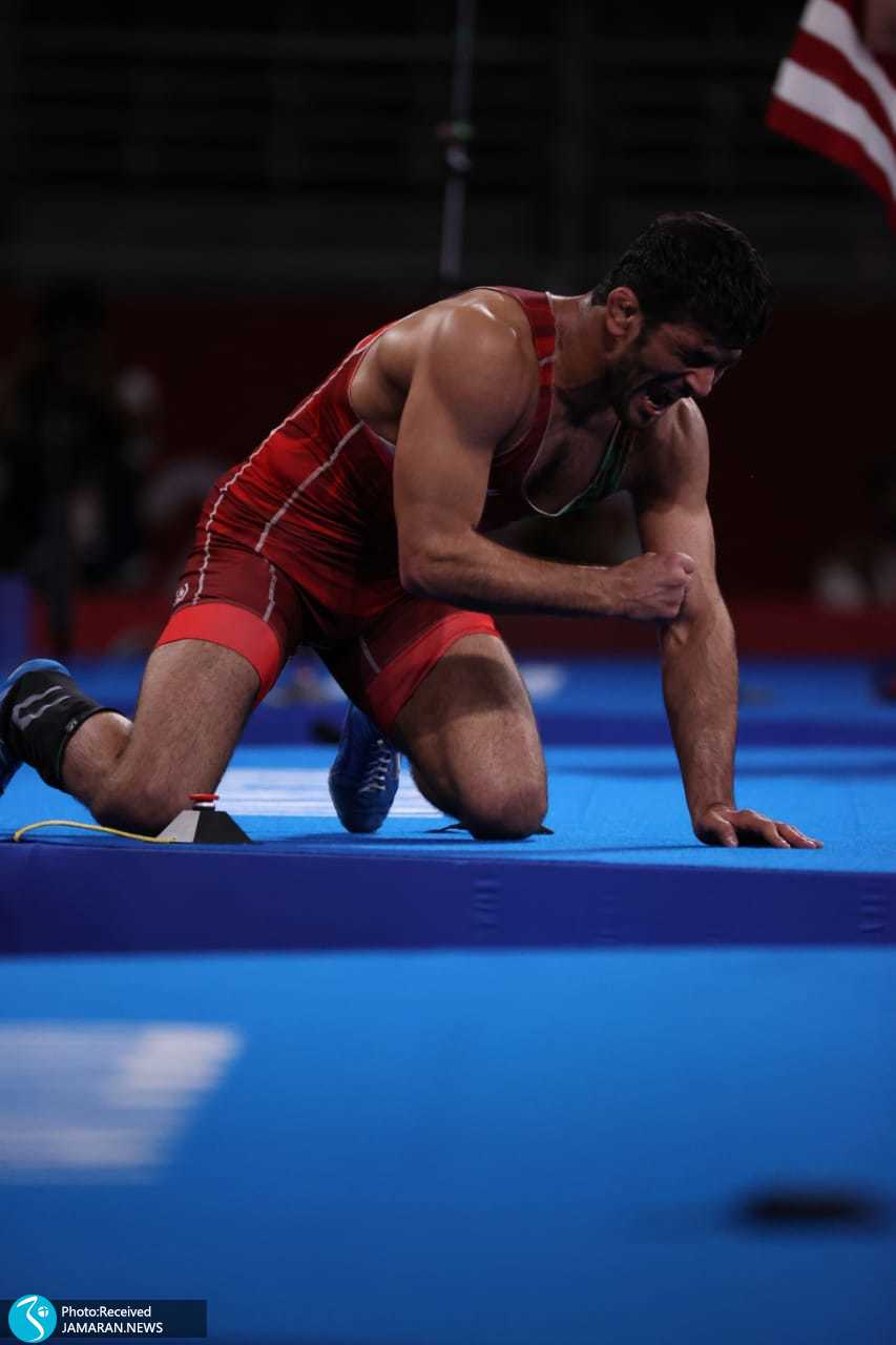 عصبانیت شدید حسن یزدانی کشتی آزاد المپیک 2020