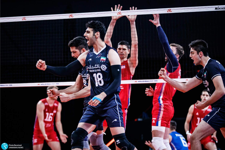 محمدطاهر وادی لیگ ملت های والیبال 2021 -  تیم ملی والیبال ایران - ایران و صربستان