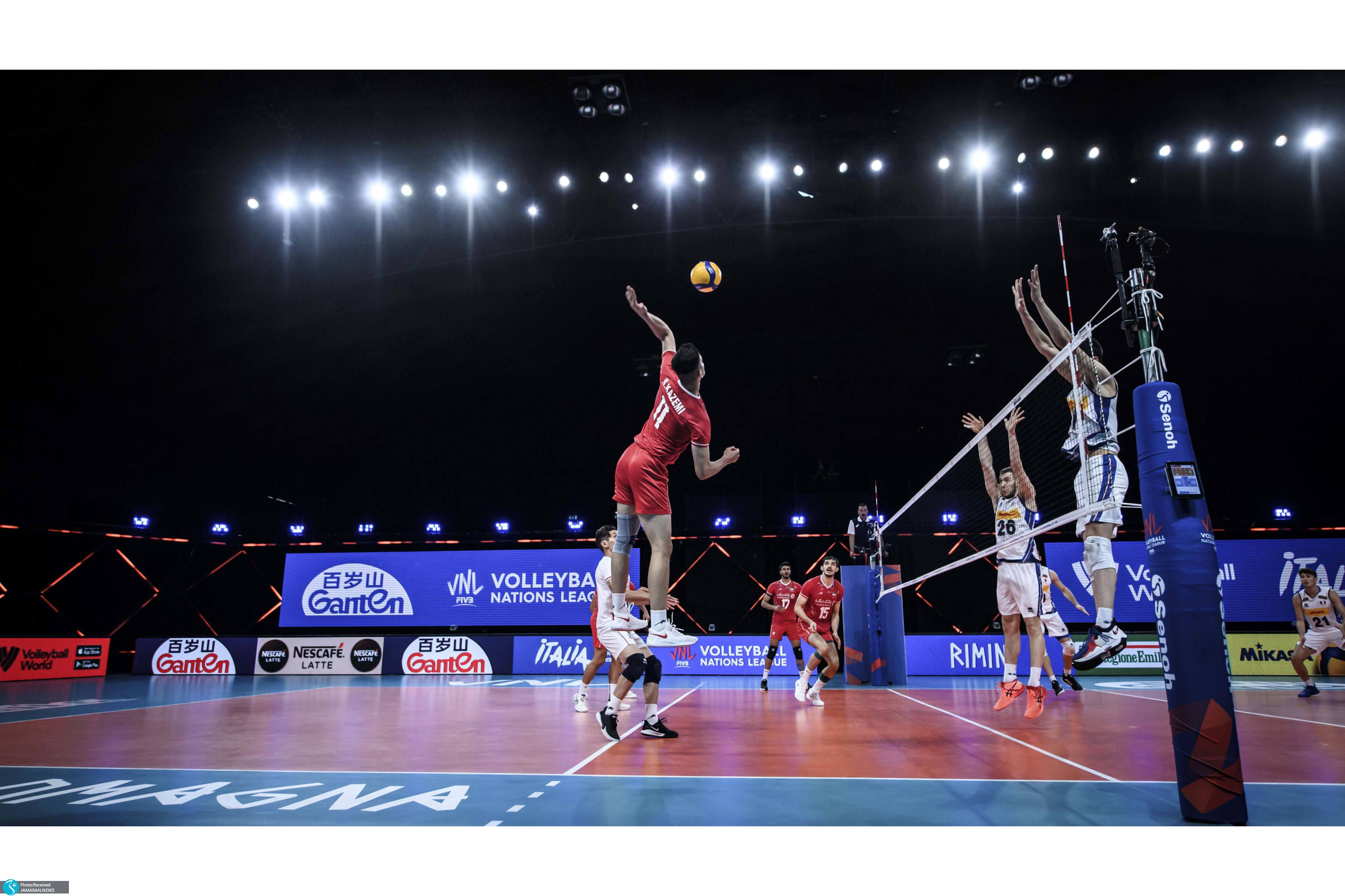 لیگ ملت های والیبال ۲۰۲۱ تیم ملی والیبال ایران ایران و ایتالیا
