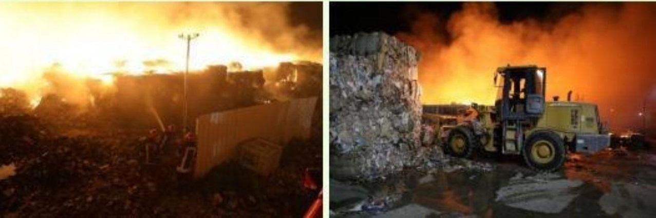 تصاویر آتشسوزی کارخانه تولید کاغذ در بینالود (2)
