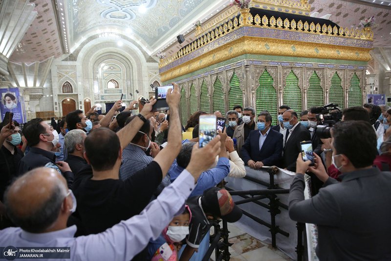 حضور عبدالناصر همتی در حرم مطهر امام خمینی(س)