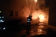 آتشسوزی گاراژ ضایعاتی در دزفول