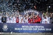 عکس های مراسم قهرمانی تیم ملی فوتبال ساحلی ایران در جام بین قاره ای