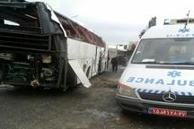 واژگونی اتوبوس ولوو در محور توره - اراک  چهار کشته و 6 مجروح به جا گذاشت