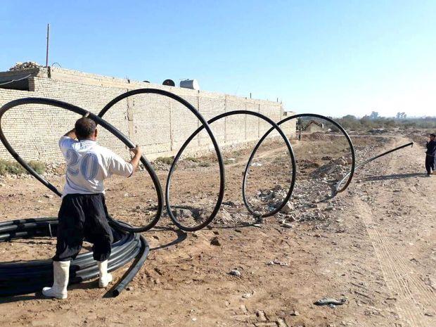 ۵۰ کیلومتر لوله شبکه توزیع آبروستایی رامشیر تعویض شد