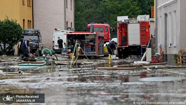 تصاویری از عمق فاجعه سیل ویرانگر در اروپا