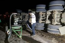 سوخت تانکر واژگون شده خلخال تخلیه شد