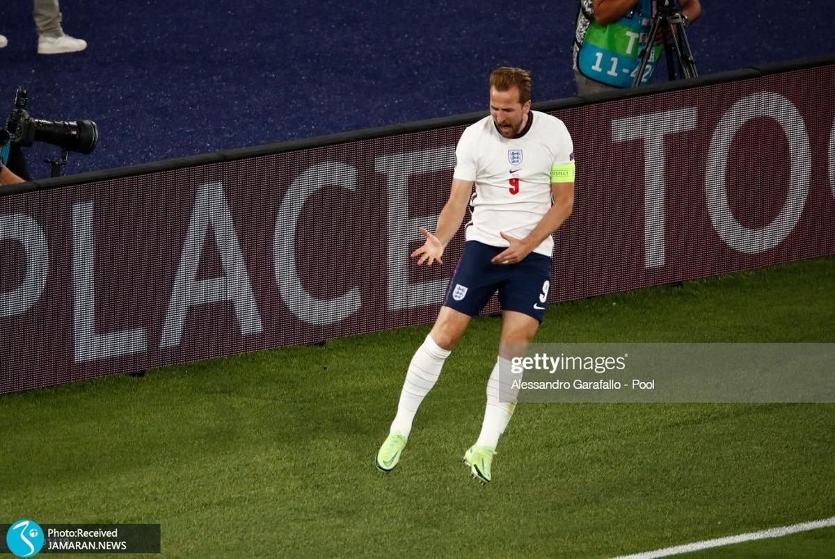 هری کین بهترین بازیکن یک چهارم نهایی یورو 2020+عکس