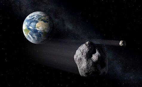 عبور سیارکی به اندازه اقیانوس پیما از کنار زمین