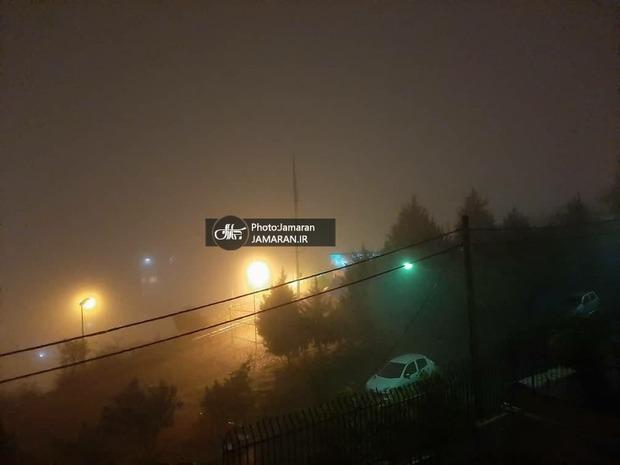 تصاویری از مه غلیط در تهران