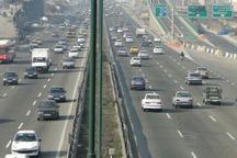 ترافیک نیمه سنگین در آزادراه های قزوین-کرج و قزوین-زنجان