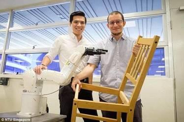 این ربات صندلی می سازد + فیلم