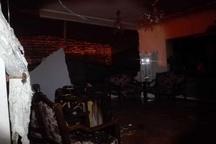 تخریب یک واحد مسکونی براثر انفجار گاز