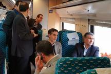 بازدید وزیر راه و شهرسازی از راه آهن قزوین - رشت
