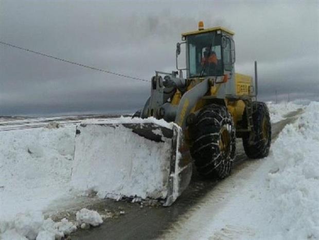 200 کیلومتر راه روستایی شیروان برف روبی شد
