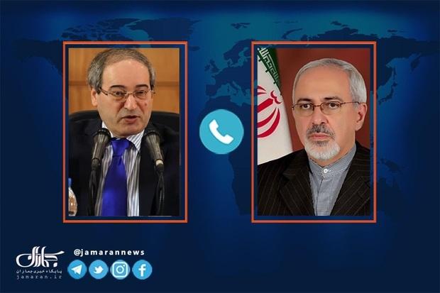 جزییات گفت و گوی ظریف و وزیر خارجه سوریه: از انتخابات سوریه تا وضعیت منطقه