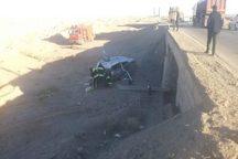 وازگونی خودرو در جاده یزد- بافق، یک فوتی بر جا گذاشت