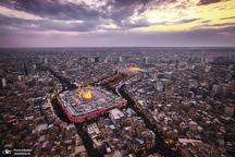 تصاویر هوایی از راهپیمایی میلیونی اربعین