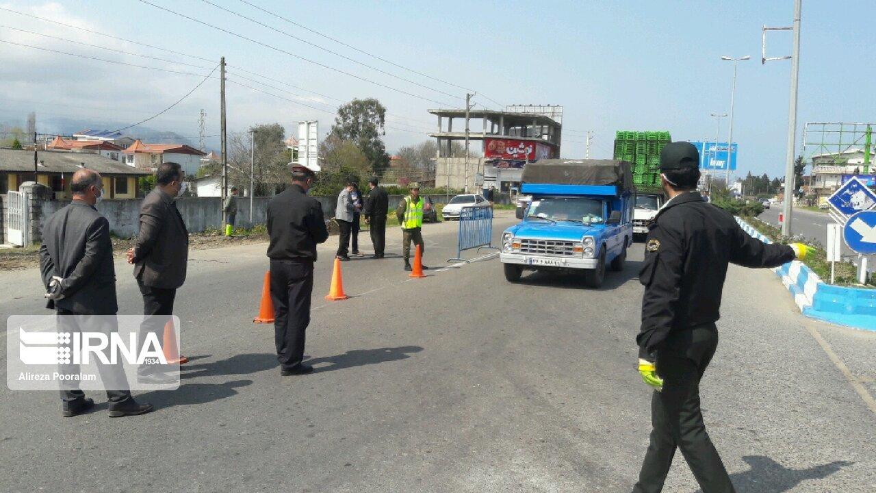 هدایت ۱۷ هزار دستگاه خودرو به مسیر فاصلهگذاری اجتماعی در مازندران
